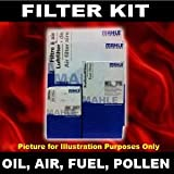 Filter Service Kit Oil,Air,Fuel,Pollen Cabin - Nissan Qashqai 2.0 Diesel 07->on