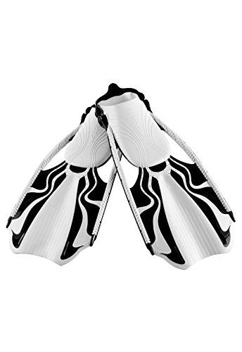 Speedo Momentum Blade Swim Training Fins, White/Black, Small/Medium