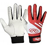 Rawlings BGP650T Batting Gloves (Scarlet, Small), Small/Scarlet