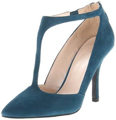Nine West Women's Blonsky Pump,Blue/Green Suede,10 M US