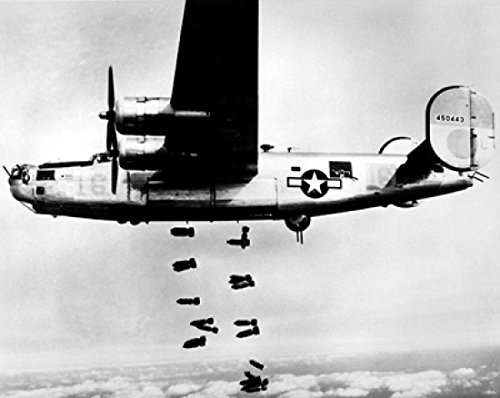 B-24 Liberator Bombing Muhldorf, Germany, 1945 Poster Print by McMahan Photo Archive (10 x 8)