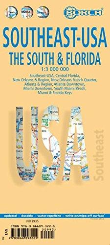 Southeast: The South & Florida Road Map (USA 6) (English Edition)