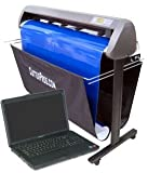 package items 7: ProCut CR1300 48inch Vinyl Cutter with Stand Basket Laptop ....