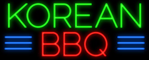Korean BBQ Neon Sign - Made In Usa