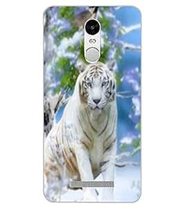 ColourCraft White Tiger Design Back Case Cover for XIAOMI REDMI NOTE 3 PRO