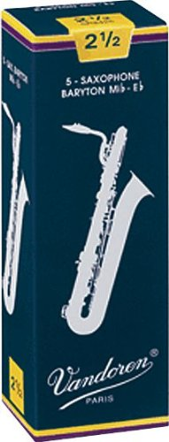 Vandoren Baritone Saxophone Reeds #2.5, Box of