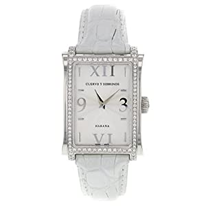 Cuervo Y Sobrinos Habana Prominente A1010.1AGQ-S2 Original Diamonds Unisex Watch