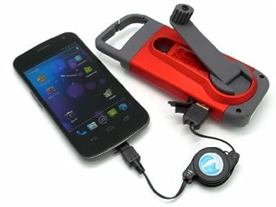 手回し発電 スマートフォン充電機能付き LEDライト(カラビナ付き)Eton American Red Cross CLIPRAY