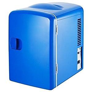 MobileFDL 4L Portable Car Mini Fridge Cooler and Warmer Blue