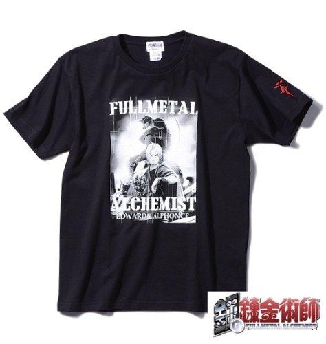【大きいサイズ】鋼の錬金術師 Tシャツ半袖 (ブラック) (3L 4L 5L 6L)