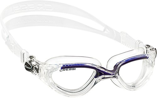 Cressi Flash Occhialini da Nuoto, Trasparente/Blu