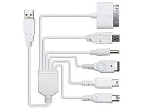 Connectland CHG-USB-6-EN-1 Câble Chargeur USB 6 en 1