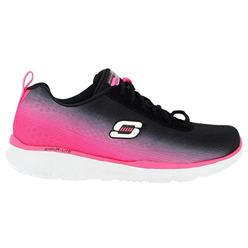 Skechers Womens Equalizer - Oasis Black/Hot Pink Walking Shoe - 7 (Black Oasis Shoes compare prices)