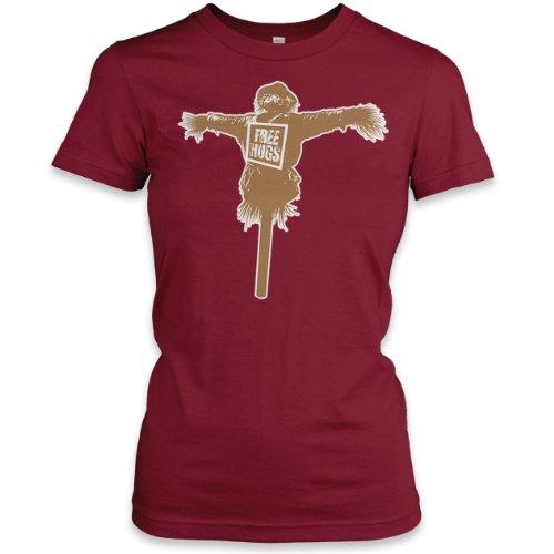Free Hugs Ladies Fne Jersey T-Shirt, Cranberry, XL