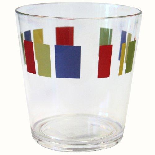 Corelle Coordinates Memphis 14 Ounce Round Acrylic Glasses, Set of 6