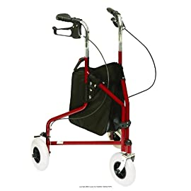 3 Wheeled Rollator, Rollator 3 Whl Alum Red -Sp, (1 EACH, 1 EACH)