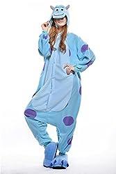 VU ROUL Adult Kigurumi Cosplay Costume Monsters University Sullivan Pyjamas