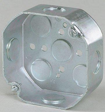 "Raco Inc 8125 4"" Steel Octagon Box 1-1/2"""