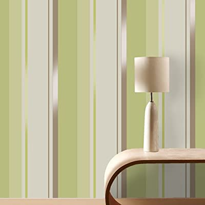 Coloroll Spring Green Stripe Wallpaper