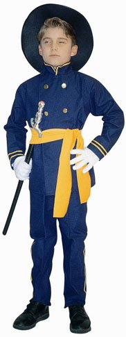Child's Boy's Union Officer Costume (Size:Small 4-6)
