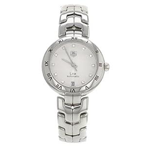TAG Heuer Link WAT2311 Silver Guilloche Diamond Dial Women's Watch