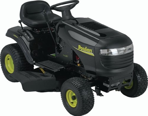 Poulan PO17542LT 42-Inch 17-1/2 HP Briggs and Stratton Riding Lawn Tractor With 6-Speed Transmission