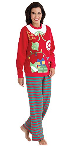 Matching Ugly Christmas Sweater Pajamas for the Whole Family Womens Medium (8-10)