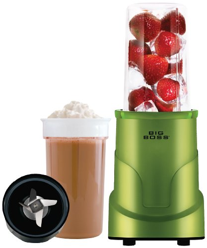 Big Boss 8993 4-Piece Personal Countertop Blender Mixing System, 300-watt, Green