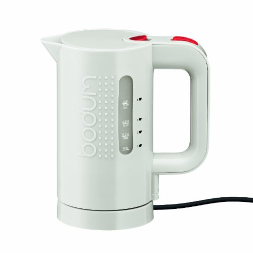 Bodum 11451-913US 17-Ounce Electric Water Kettle, White (Black And White Kettle compare prices)