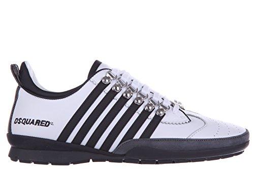 Dsquared2 Herrenschuhe Herren Leder Schuhe Sneakers Kalbsleder sport 251 Weiß EU 42 S16SN131 065 M072 thumbnail