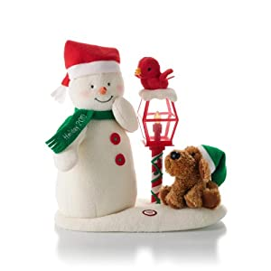 Hallmark Merry Carolers Techno Plush Snowman