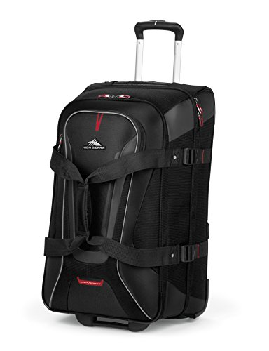 High Sierra 57020-1041 AT7 Wheeled Duffel with Backpack Straps, Black, 32-Inch (High Sierra Wheeled Duffel compare prices)