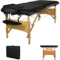 ValueMassage Portable Massage Table with Free Carry Case Chair Bed (MT-T1-Black)