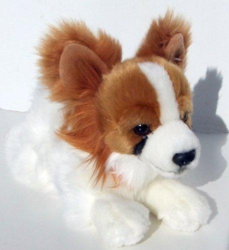 Papillon braun/weiß Hund 25 cm Kuscheltier Schmusehund