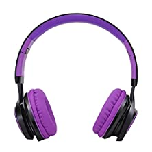buy Duowo Sound Intone Hd30 Stereo Lightweight Folding Portable Headsets Kids Or Adults Earbuds Includes In-Line Microphone For Iphone,All Android Smartphones,Pc,Laptop,Mp3/Mp4,Tablet Headphone (Purple)