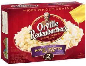 Orville Redenbacher, Pour Over Movie Theater Butter Popcorn, 9.9Oz Box (Pack Of 4)