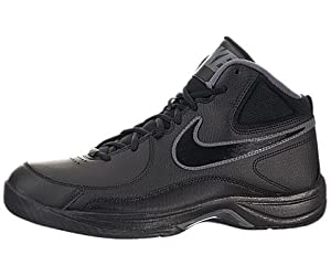 Nike Men's NIKE THE OVERPLAY VII BASKETBALL SHOES 12 (BLACK/BLACK/DARK GREY)
