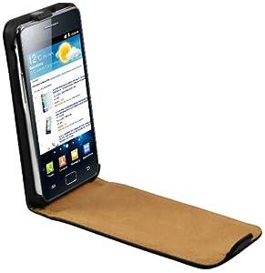mumbi Premium Echt Ledertasche für Samsung i9100 Galaxy S II