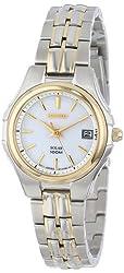 Seiko Women's SUT038 Two-Tone Stainless Steel Solar Watch