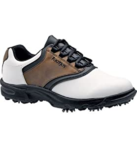 FootJoy GreenJoy Golf Shoe-Mens (Brown/Black/White)