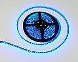 LEDテープ 黒ベース 5m 300連SMD 正面発光 12V 防水 ブルー