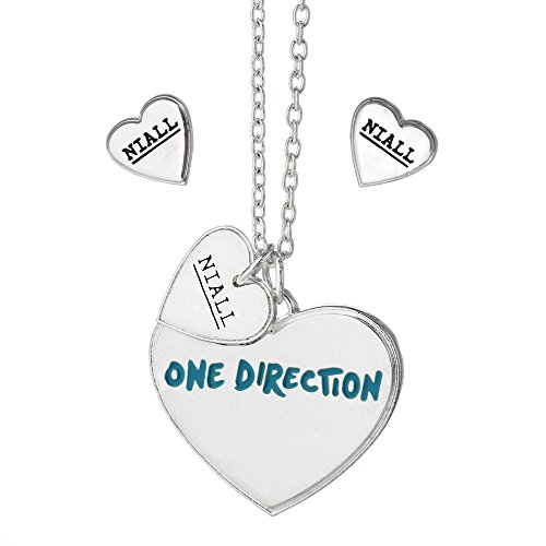 One Direction Niall Heart Necklace and Earring Set (1 Direction Jewelry compare prices)