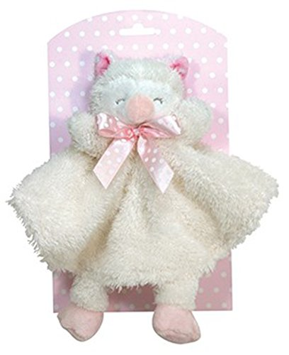 Stephan Baby Sleepy Owl Cuddle Soft Plush Security Blankie, Pink
