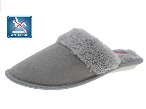 Beppi Mocassini da donna pantofole grigio, grigio (Grau), 38 EU