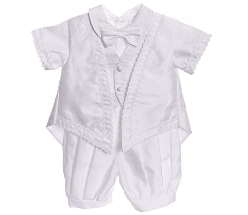 Baby Boy White Classic 5PC Christening Outfit Size 12m