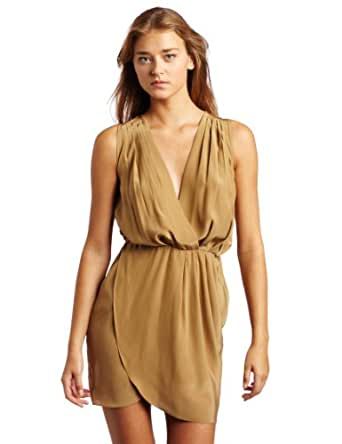 Amanda Uprichard Women's Crystal Dress, Taupe, Medium