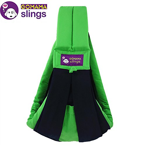 gomamar-baby-sling-one-size-wrap-carrier-with-bags-fits-to-newborn-baby-fresh-green