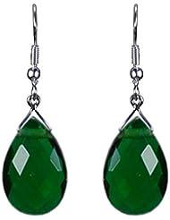 Pearl Paradise Generic Swarovski Emerald Green Pear Drop Earring.
