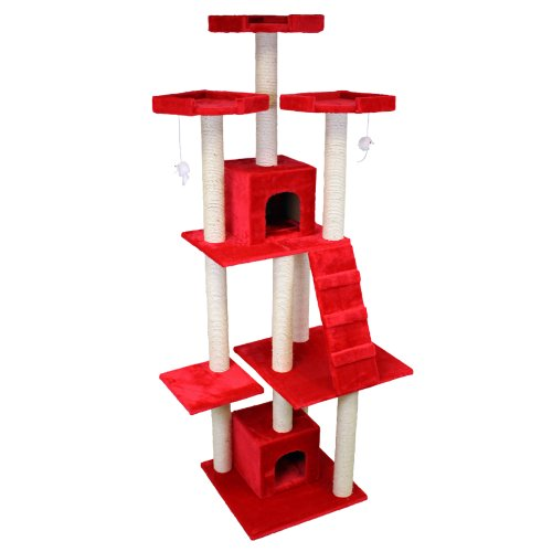 cat tree 2,08 meters red