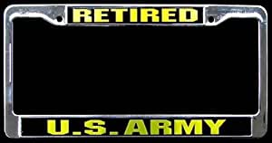 Amazon Com New Us Army Retired License Plate Frame